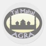 El Taj Mahal Agra Pegatina Redonda