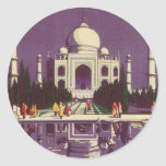 El Taj Mahal, Agra Pegatina Redonda