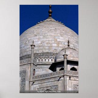 El Taj Mahal Agra Rajasthán la India Poster