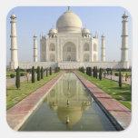 El Taj Mahal, Agra, Uttar Pradesh, la India, Pegatinas Cuadradases