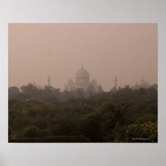 El Taj Mahal Agra Uttar Pradesh la India Poster