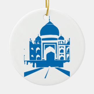 El Taj Mahal azul Adorno De Navidad
