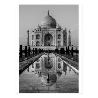 El Taj Mahal BW Postales