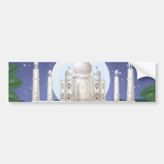 el Taj Mahal Pegatina De Parachoque