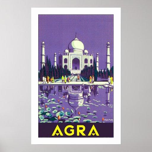 ~ el Taj Mahal de Agra Poster