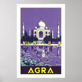 el Taj Mahal de Agra Poster