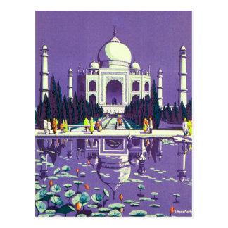 ~ el Taj Mahal de Agra Postal