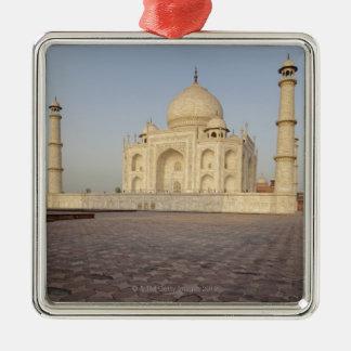 El Taj Mahal de Mehmankhana (pensión) Adorno Navideño Cuadrado De Metal