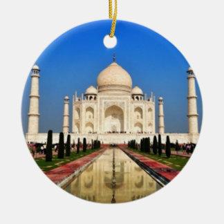 El Taj Mahal Adorno Redondo De Cerámica