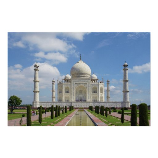 El Taj Mahal en Agra la India Poster
