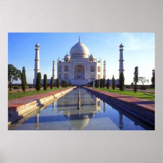 El Taj Mahal en la impresión del poster de Agra la