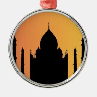 el Taj Mahal en la puesta del sol Ornamento Para Reyes Magos