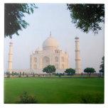 El Taj Mahal en la salida del sol una de las marav Teja Cerámica