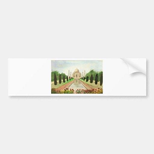El Taj Mahal Etiqueta De Parachoque