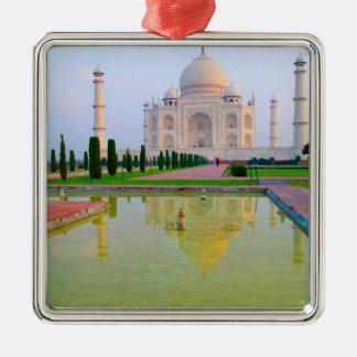 El Taj Mahal famoso pacífico reservado en Adorno Navideño Cuadrado De Metal
