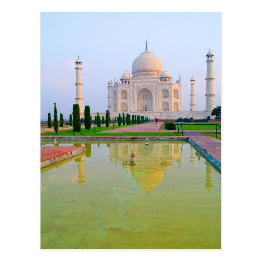 El Taj Mahal famoso pacífico reservado en Postal