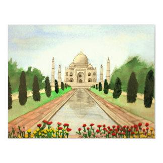 El Taj Mahal Invitación 10,8 X 13,9 Cm