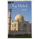 el Taj Mahal la India 2016 Calendario De Pared