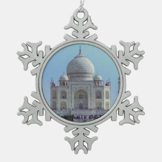 El Taj Mahal, la India Adorno De Peltre En Forma De Copo De Nieve