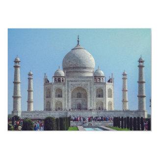"""El Taj Mahal, la India Invitación 5"""" X 7"""""""