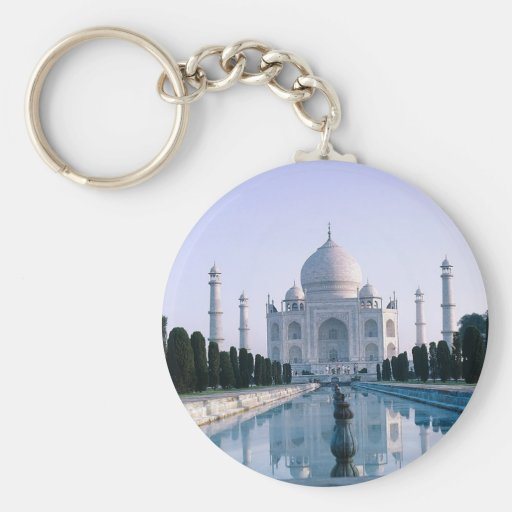 El Taj Mahal Llavero Redondo Tipo Pin