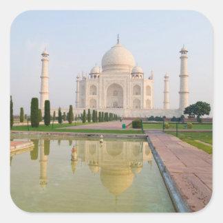 El Taj Mahal pacífico reservado en la salida del s Pegatinas Cuadradas Personalizadas