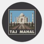 El Taj Mahal Pegatinas Redondas