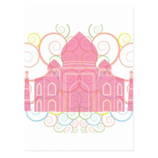 El Taj Mahal rosado Tarjetas Postales