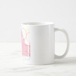 El Taj Mahal rosado Tazas De Café