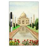 El Taj Mahal Tablero Blanco