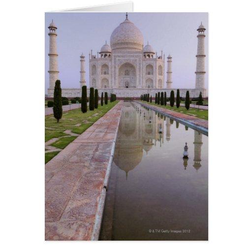 El Taj Mahal todavía reflejado perfectamente en Tarjeta De Felicitación