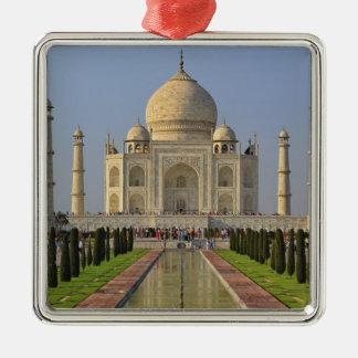 El Taj Mahal, un mausoleo situado en Agra, la Adorno Navideño Cuadrado De Metal
