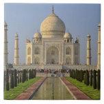 El Taj Mahal, un mausoleo situado en Agra, la Indi Azulejo Cuadrado Grande