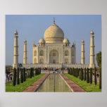 El Taj Mahal, un mausoleo situado en Agra, la Indi Póster