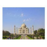 El Taj Mahal, un mausoleo situado en Agra, la Tarjeta Postal