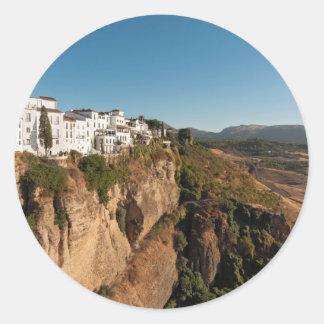 El Tajo Gorge, Ronda, Spain Classic Round Sticker