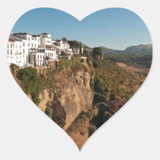 El Tajo Gorge, Ronda, Spain Heart Sticker