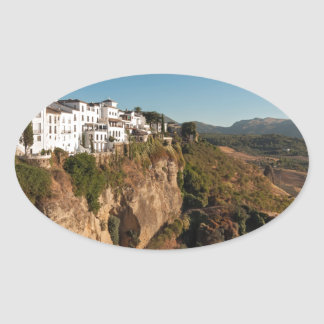 El Tajo Gorge, Ronda, Spain Oval Sticker