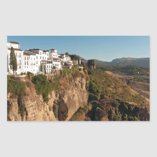 El Tajo Gorge, Ronda, Spain Rectangular Sticker