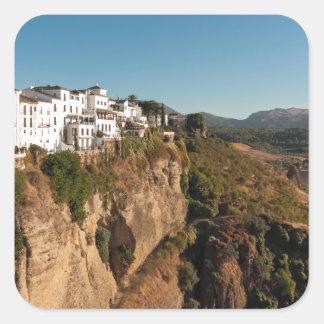 El Tajo Gorge, Ronda, Spain Square Sticker