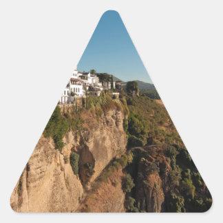 El Tajo Gorge, Ronda, Spain Triangle Sticker