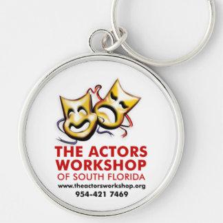 El taller de los actores llavero redondo plateado