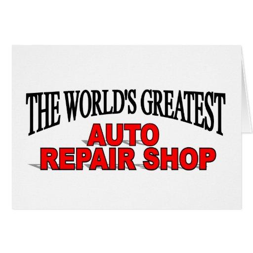 El taller de reparaciones auto más grande del mund tarjetón