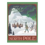 El taller de Santa de la visita en el Polo Norte:  Postales