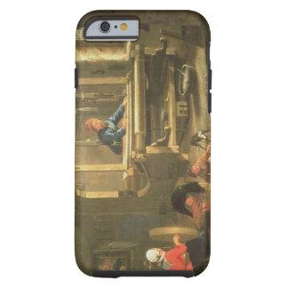 El taller de un tejedor, 1656 (aceite en lona) funda para iPhone 6 tough