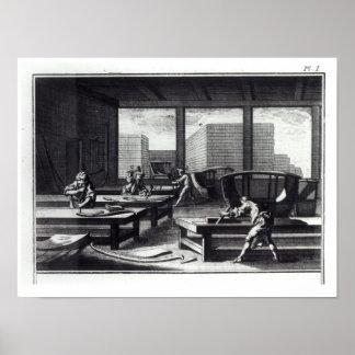 El taller del carpintero impresiones