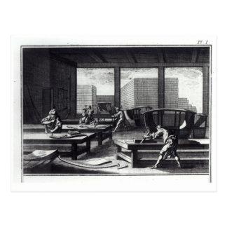 El taller del carpintero tarjeta postal