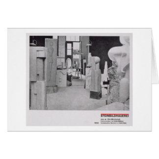 El taller del Carver de piedra, de los talleres de Tarjeta De Felicitación
