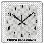 El taller del papá reloj de pared