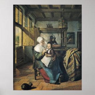 El taller del tejedor póster